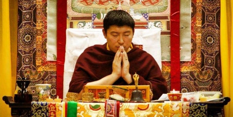 Phakchok Rinpoche contempating faith