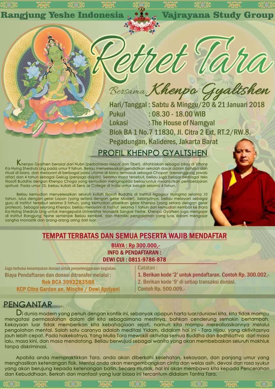 Tara Retreat Indonesia Samye Institute